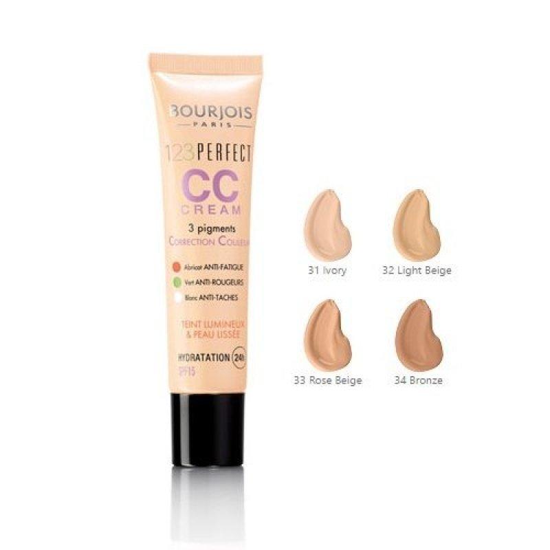Bourjois 123 Perfect CC Cream - SPF 15 - Хидратиращ CC крем за лице за равномерен тен