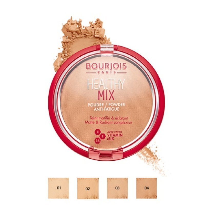 Bourjois Healthy Mix Powder Anti-Fatigue - Компактна пудра за лице с анти-умора ефект