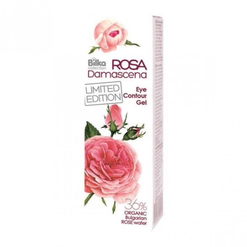 Bilka Rosa Damascena Гел за около очи с органична розова вода 25 мл