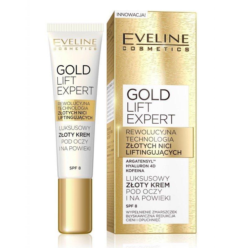 Eveline Gold Lift Expert Околоочен крем против бръчки с лифтинг ефект 15 мл