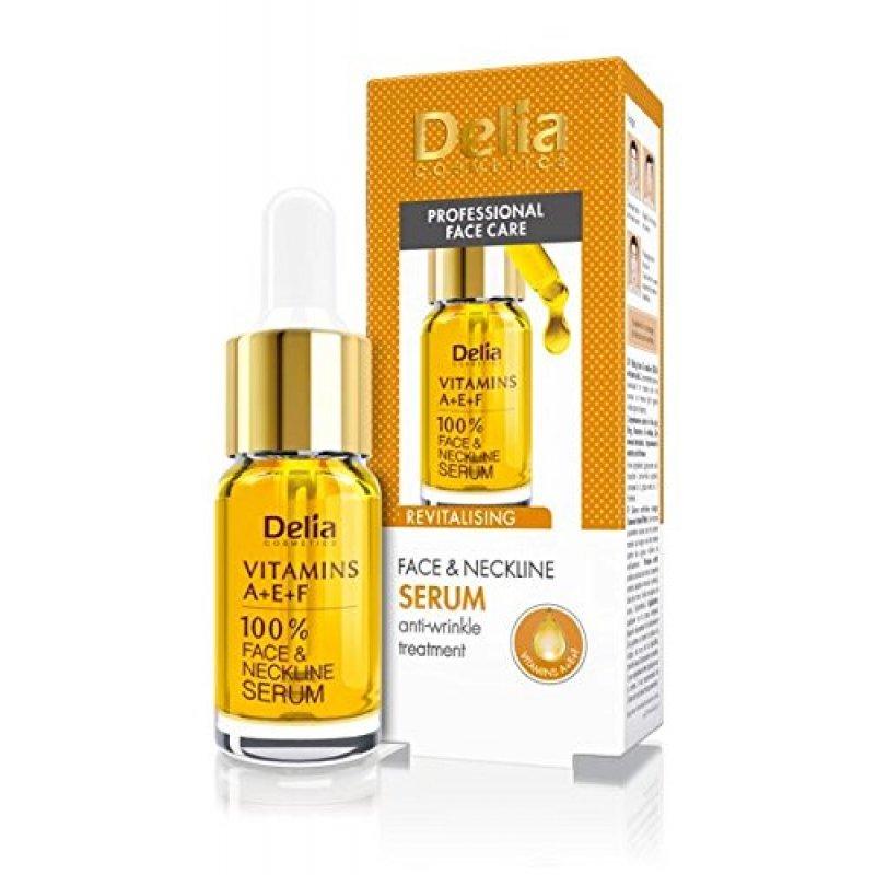 Delia Интензивен серум за лице с витамини A+E+F и Q10 10мл
