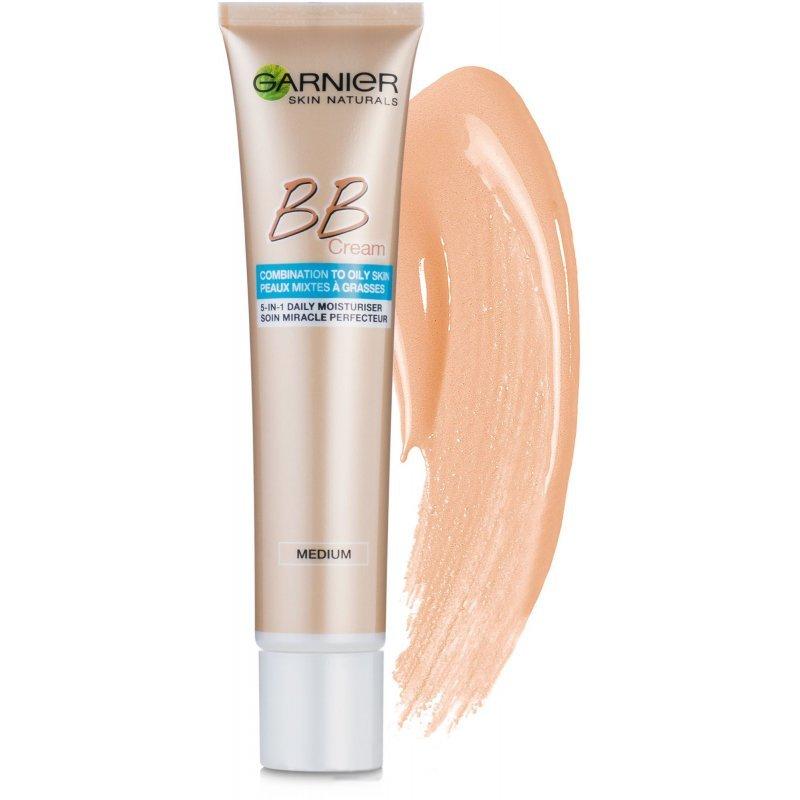 """Garnier BB Cream Miracle Skin Perfector Oil Free - Крем за изравняване на тена за мазна към смесена кожа от серията """"Skin Naturals"""" 50мл"""