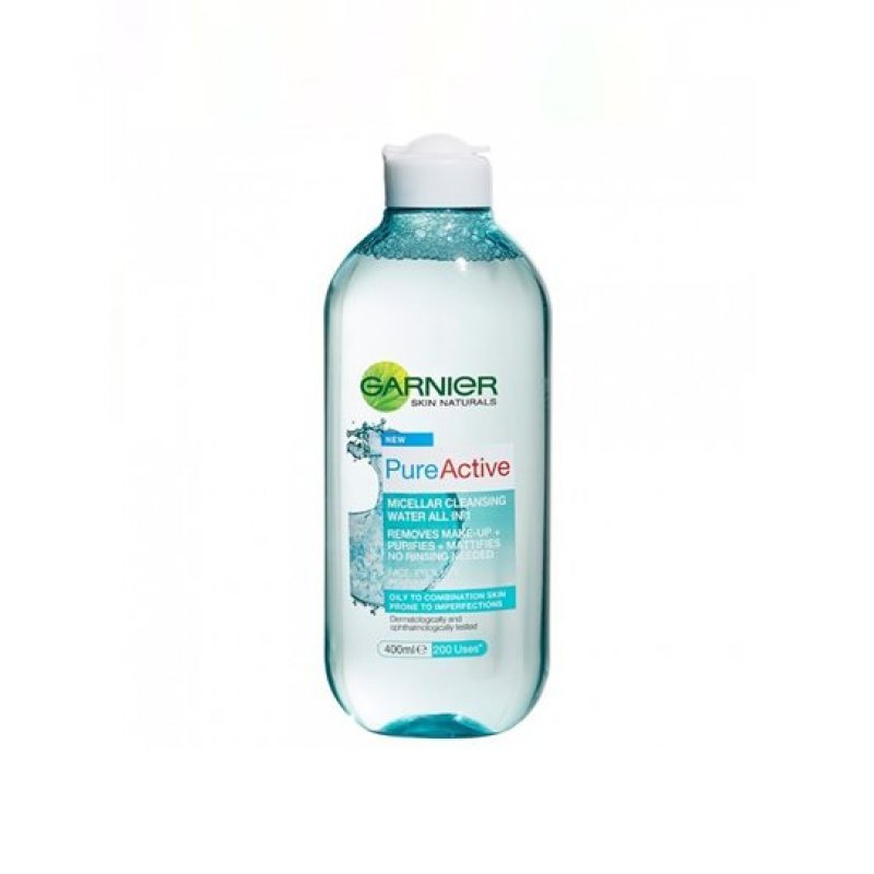 Garnier Pure Active Micellar Cleansing Water - Мицеларна вода за комбинирана към мазна кожа 400мл