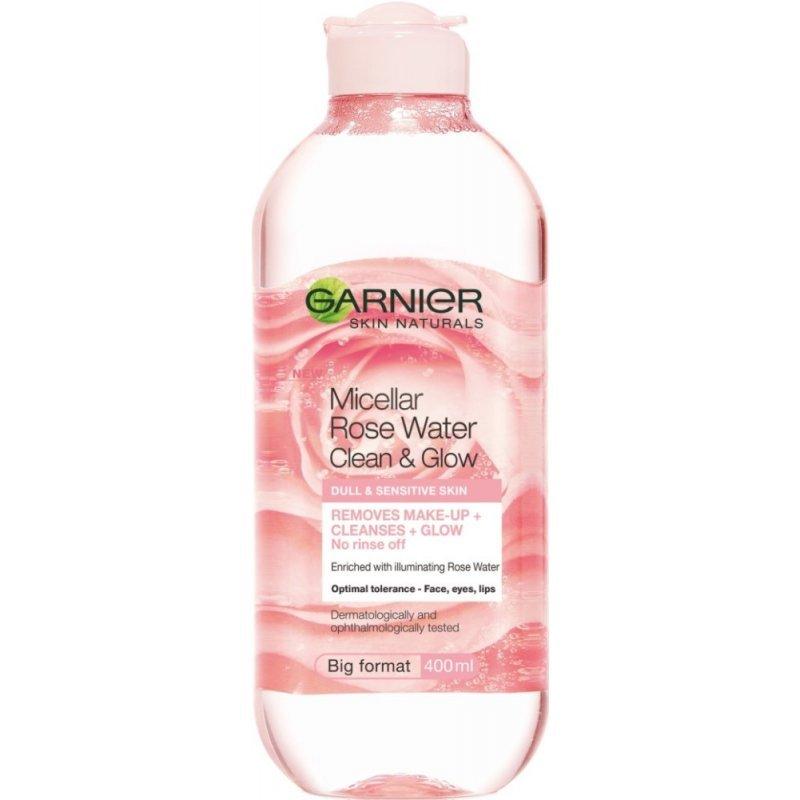 Garnier Skin Naturals Micellar Rose Water Clean & Glow - Мицеларна розова вода за чувствителна кожа 400мл