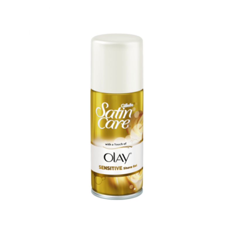 Gillette Satin Care Olay Sensitive Shave Gel - Гел за бръснене за чувствителна кожа 75мл