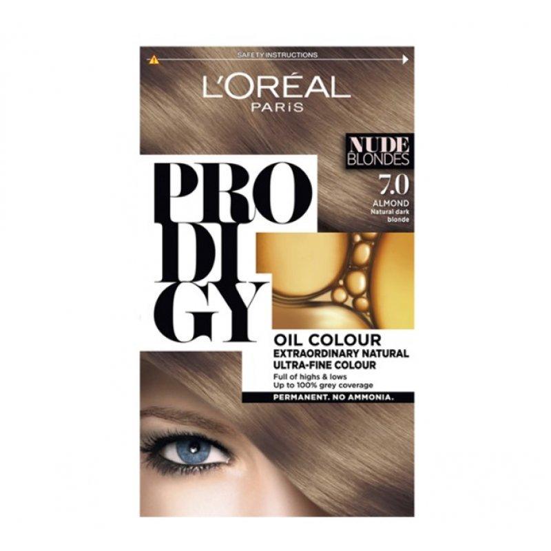 Loreal Prodigy Безамонячна трайна боя за коса 7.0 Бадем
