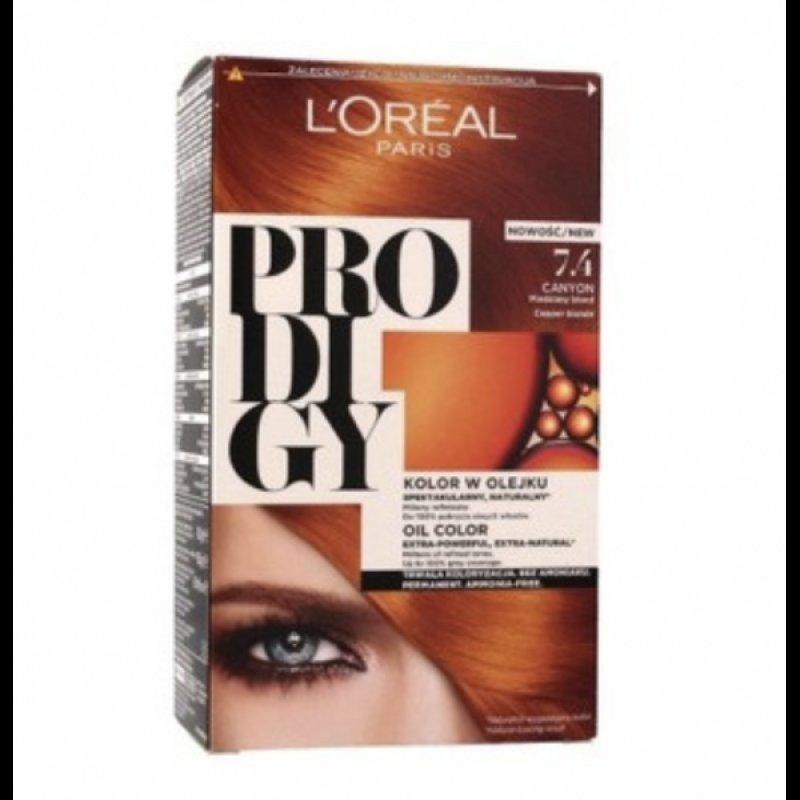 Loreal Prodigy Безамонячна трайна боя за коса 7.4 Canyon Медено русо