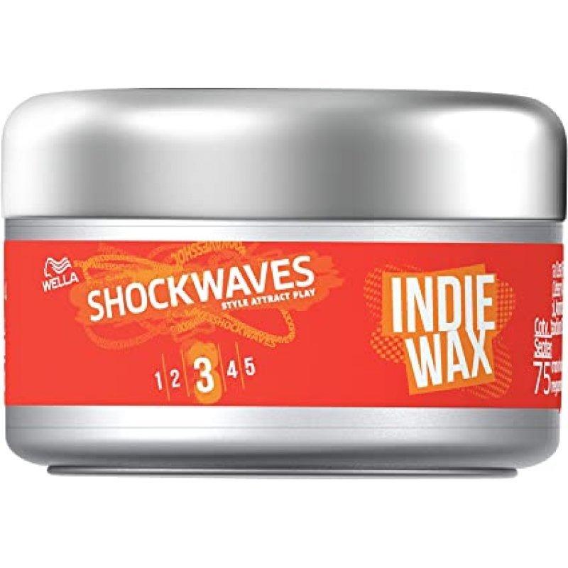 Wella Shockwaves Indie Wax Моделираща вакса за коса със средна фиксация 75мл