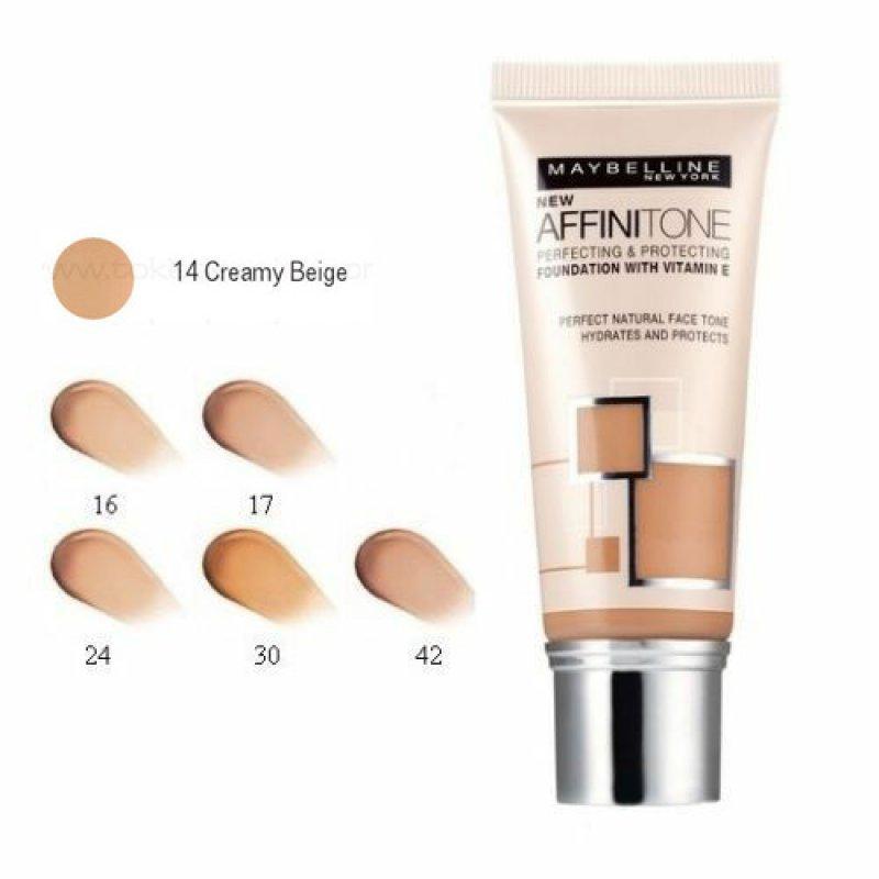 Maybelline Affinitone Hydrating Tone-on-tone Foundation - Фон дьо тен за естествен и равномерен завършек - всички типове кожа