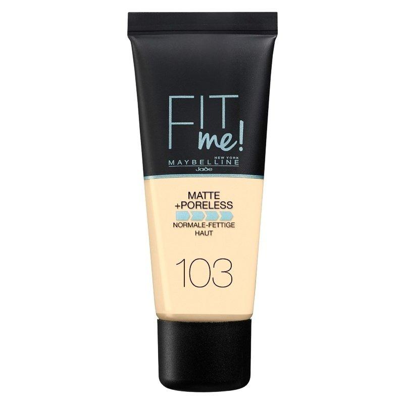 Maybelline Fit Me Matte + Poreless Foundation - Фон дьо тен с матиращ ефект за нормална към мазна кожа