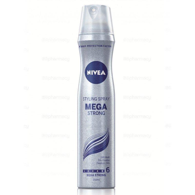 Nivea Mega Strong Лак за коса за силна фиксация 250 мл