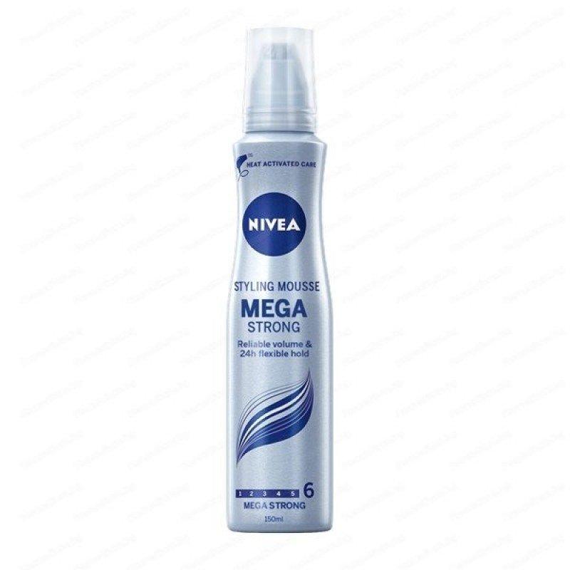 Nivea Mega Strong Пяна за коса за мега силна фиксация 150 мл