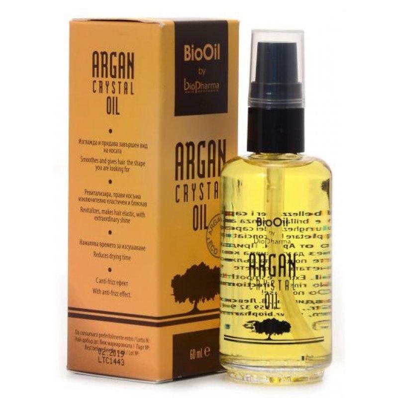BioPharma Argan Crystal Oil Флуид за коса с биологично чисто олио от арган 120 мл