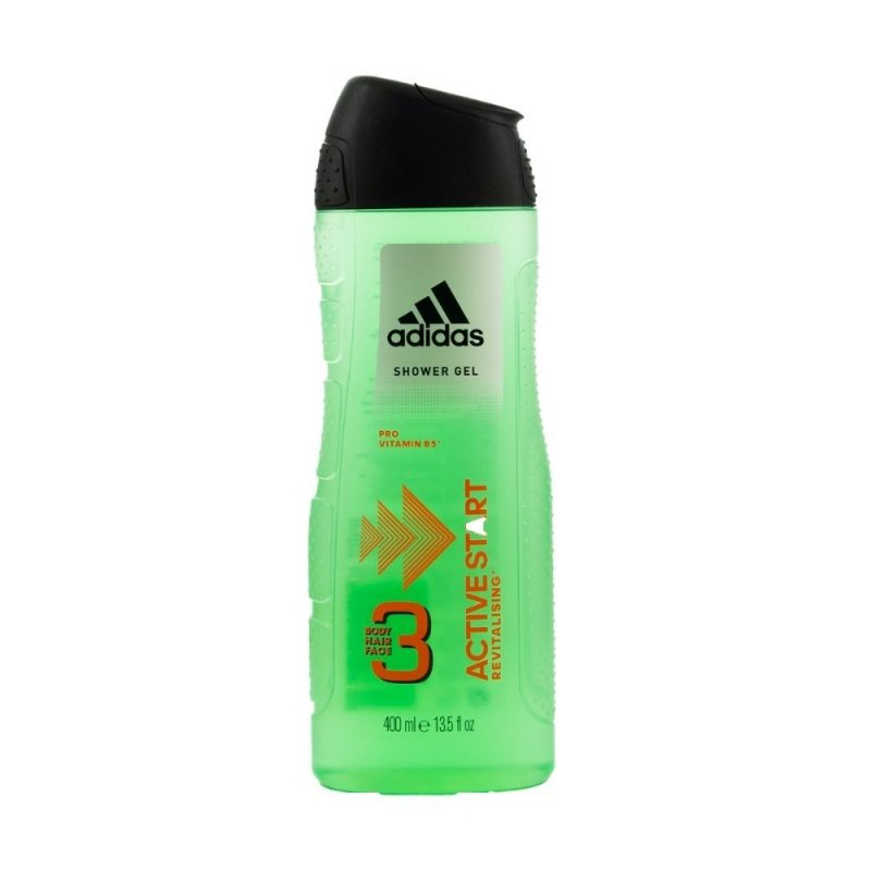 Adidas 3 in 1 Active Start Душ гел за мъже 400мл