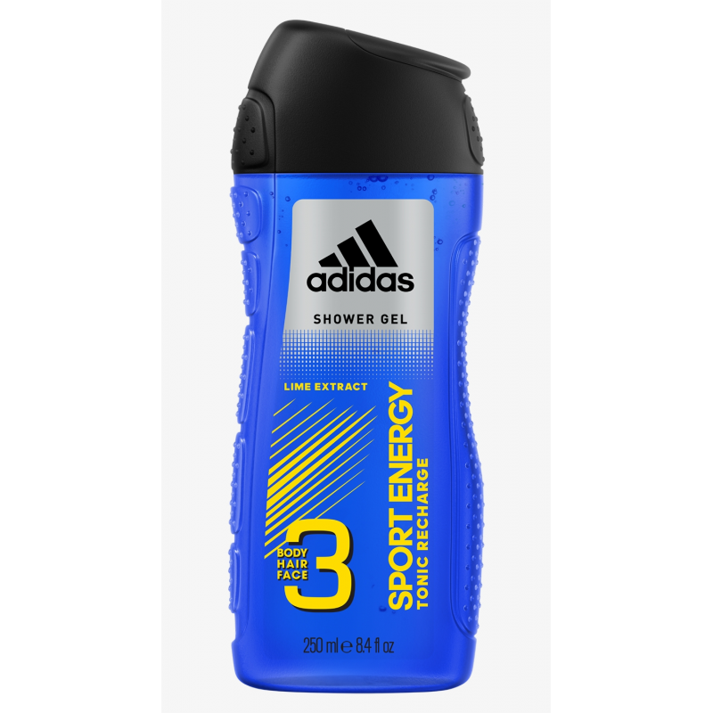 Adidas 3 in 1 Sport Energy Мъжки душ гел 250мл
