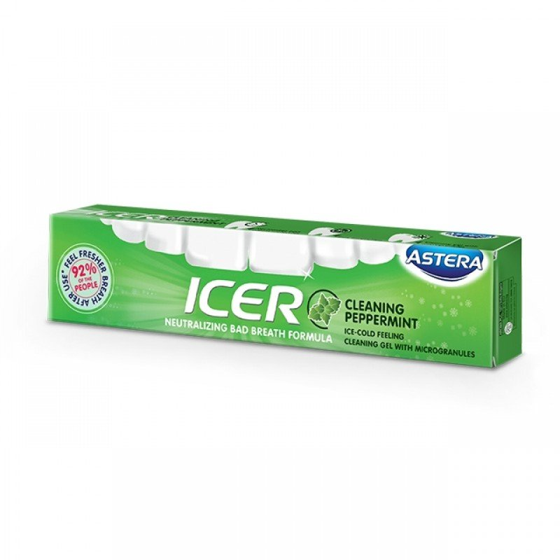 Astera Icer Cleaning паста за зъби против лош дъх Мента 75мл