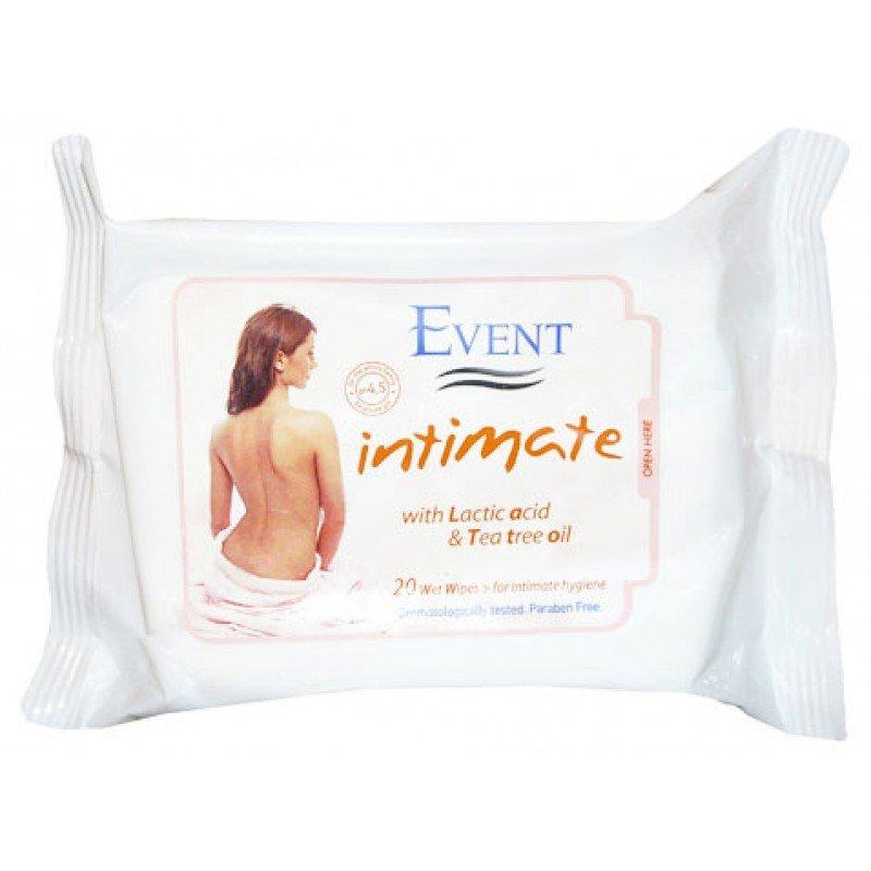 Event Intimate Интимни мокри кърпи с млечна киселина 20бр