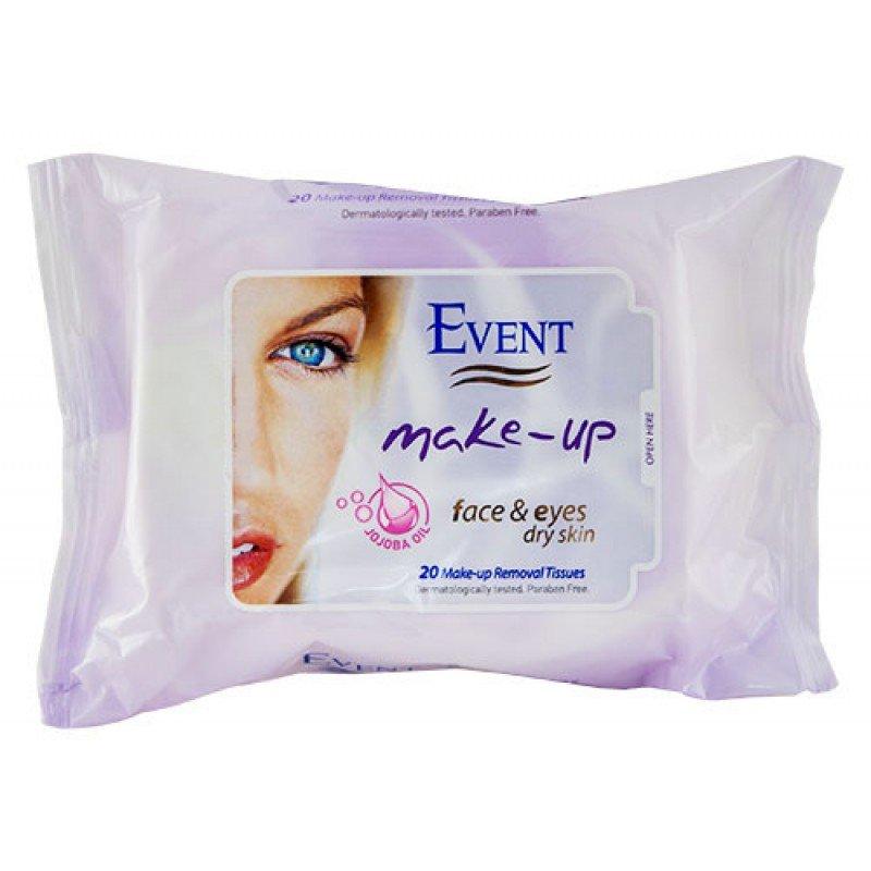 Event Make-up мокри кърпи за почистване на грим 20бр