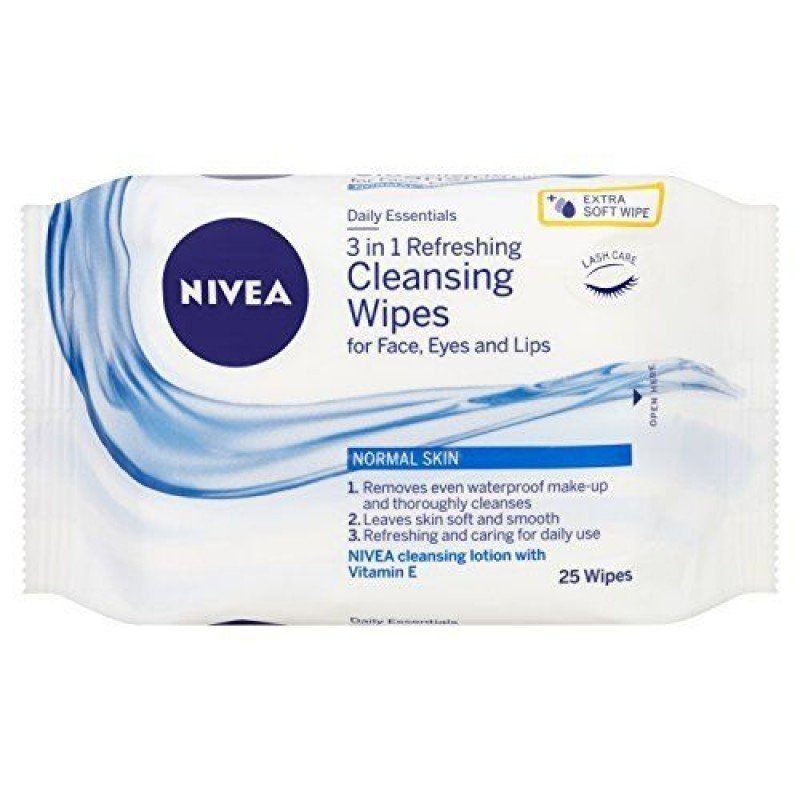Nivea Почистващи мокри кърпички Daily Essentials 3-in-1 Refreshing 25бр