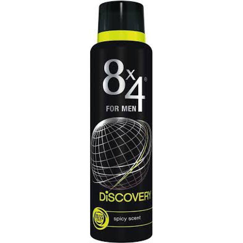 8x4 For Men Discovery - Дезодорант за мъже с дървесен аромат 150мл
